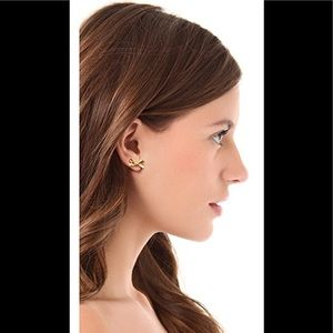 kate spade Jewelry - Kate spade bow tie earrings - rose gold